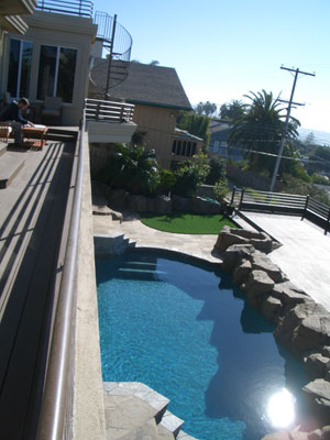 swimming pool remodel after shot