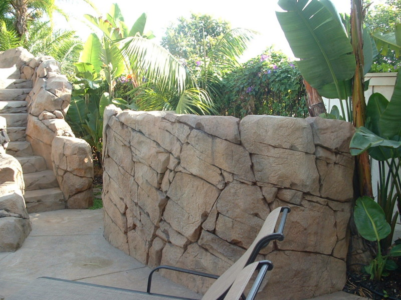 Artificial Rock Textured Equipment Wall San Diego