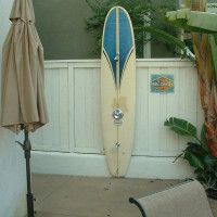 Creative surfboard shower