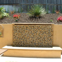 Bring the sound of flowing water into your yard with a waterwall.