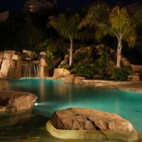 Landscape lighting is also a thing we do.