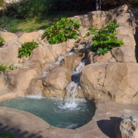 Spa/ waterfall and artificial rock work