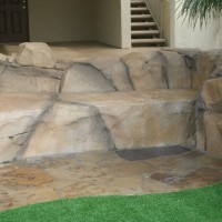 Rock layout bench.