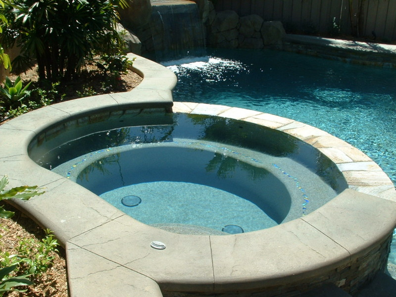 Inside Spa With Decorative Accent Tiles From Lightstream Tile San Diego Swimming Pool