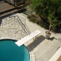 Deep end of this swimming pool remodel.