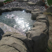 Artificial rock water fountains make great entries into private home developments and commercial properties.