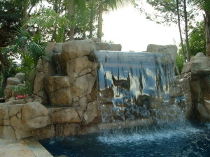 10 39 Shear Sheet Of Water Falls Over Walk In Cave Grotto San Diego Swimming Pool Builders