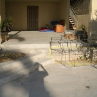 Old deck and patio before remodel.