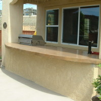 Large counter space at BBQ and bar area for entertaining.