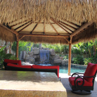 Palapa's have various types of thatching.