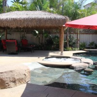 Sit in the Beach entry area, spa or under the Gazebo. You are in paradise with this Dream pool