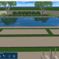 3D idea of rectangle pool with negative edge.