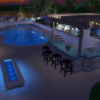 Fire pits and bbq areas are perfect additions to backyard Dream pool entertaining.