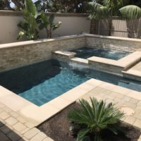 Clean lines on this Spa and pool combo.
