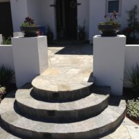 New entry steps up to your home is also an option we can do.