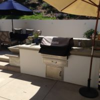 BBQ area designs are a nice touch to your pool.