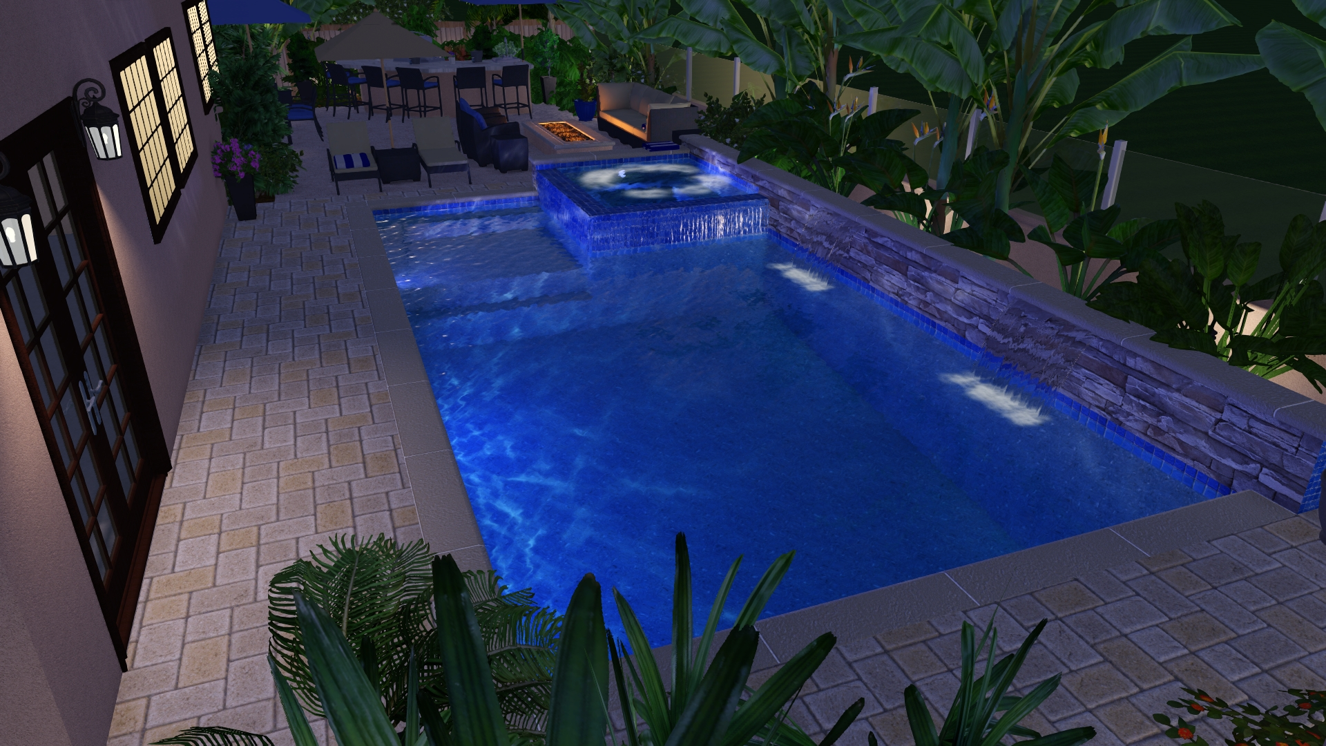 Cool Swimming Pool Design Elements Contemporary Simple Design Home